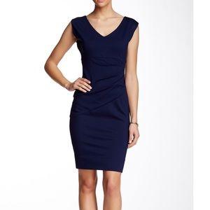 Diane Von Furstenberg Bevin Midnight Ruched Dress